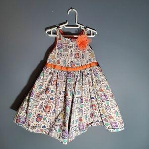 Flower corsages cotton formal dress